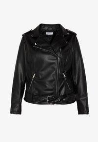 Glamorous Curve - JACKET - Faux leather jacket - black - 4