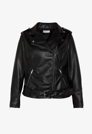 JACKET - Faux leather jacket - black