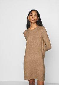 ONLY - ONLELENA DRESS - Jumper dress - toasted coconut/white melange - 0