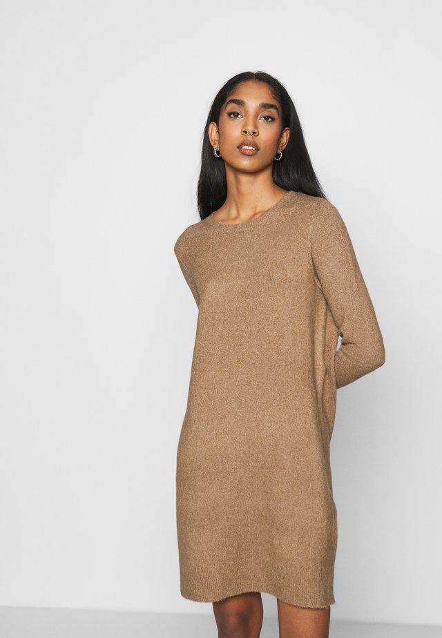 ONLELENA DRESS - Jumper dress - toasted coconut/white melange