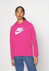 Nike Sportswear - HOODIE - Kapuzenpullover - fireberry/white - 0