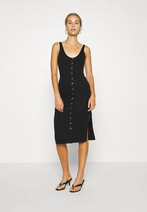 BRA CUP MIDI DRESS - Shift dress - black