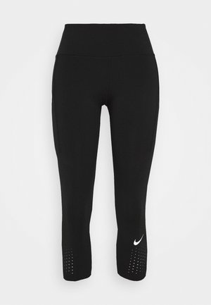 EPIC CROP - Leggings - black/reflective silver