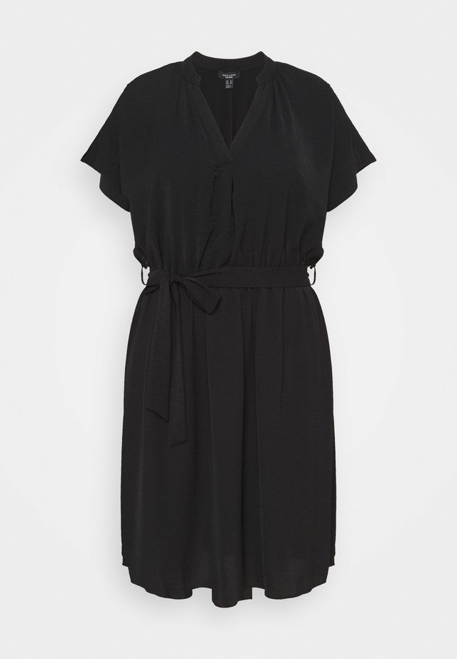 OVERHEAD BELTED - Pouzdrové šaty - black