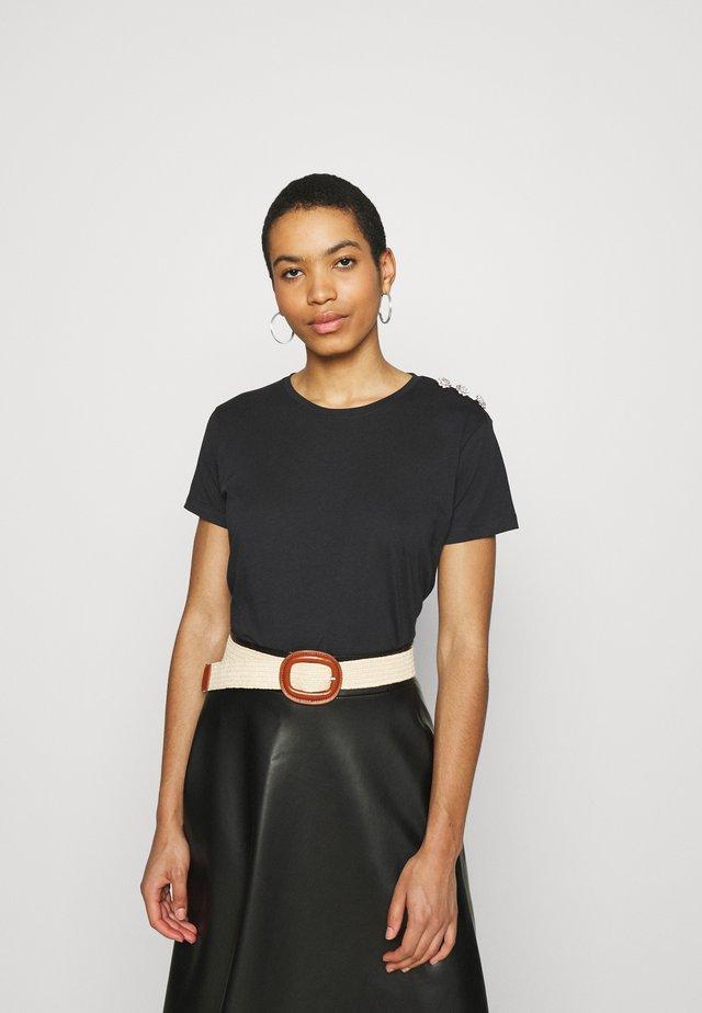 CRYSTAL - T-shirt basic - anthracite/black