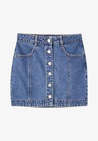 PULL&BEAR - Denim skirt - mottled dark blue - 5