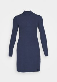 MINI DRESS WITH LONG SLEEVES AND ROLL-NECK - Day dress - navy