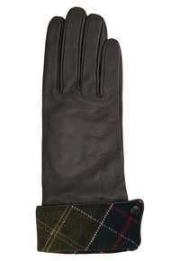 Barbour - LADY JANE GLOVE - Gloves - choc with green - 2