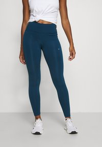 Nike Performance - ONE COLORBLOCK - Tights - valerian blue/black/cool grey - 0