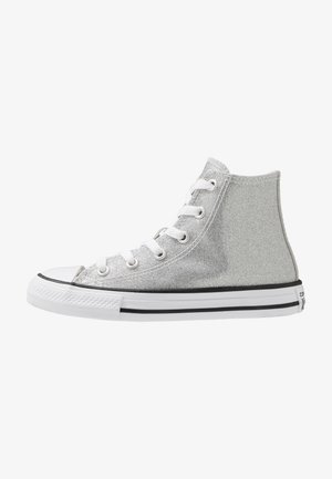 CHUCK TAYLOR ALL STAR GLITTER - High-top trainers - silver/natural ivory/white
