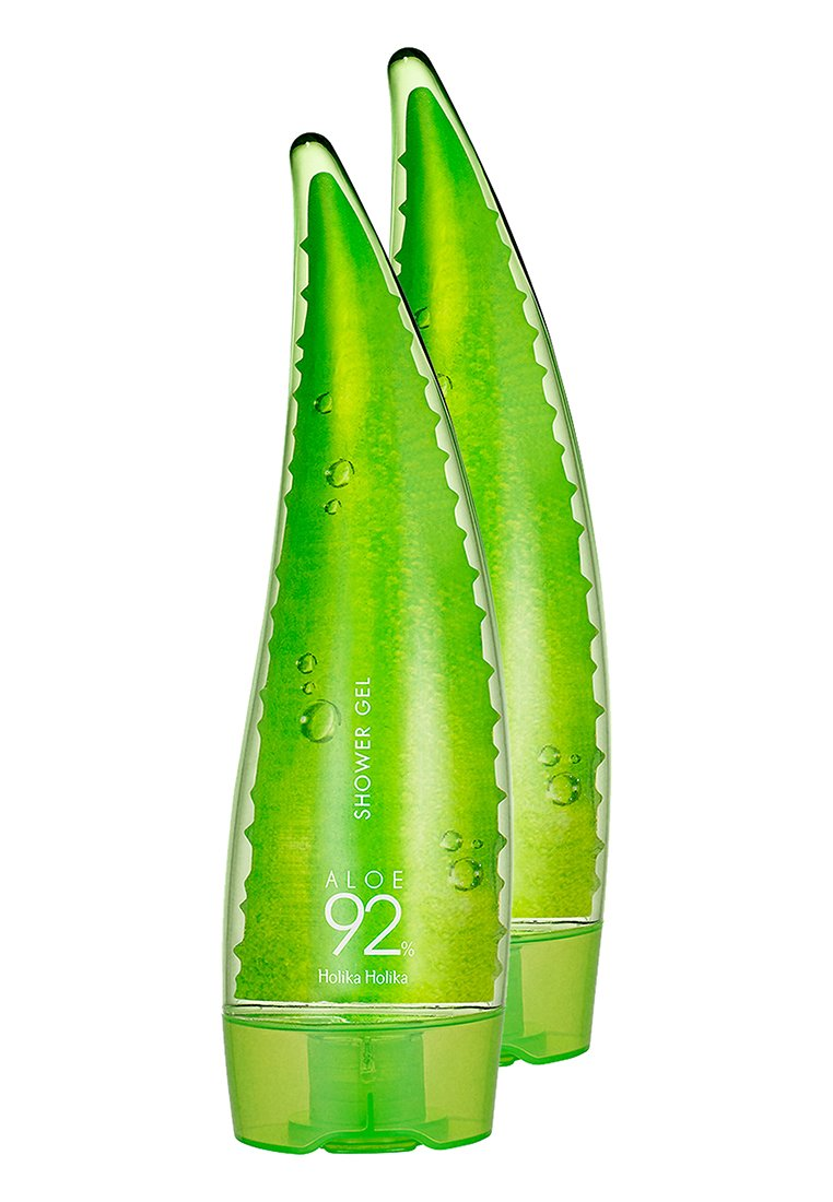Holika Holika - 2X ALOE 92% SHOWER GEL 250ML - Kropsplejesæt - -