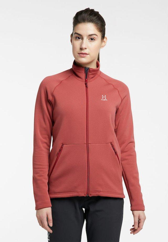 BUNGY JACKET  - Fleece jacket - brick red