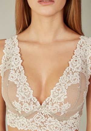 ELEONORA PRETTY FLOWERS - Bustier -  powder beige/cream white