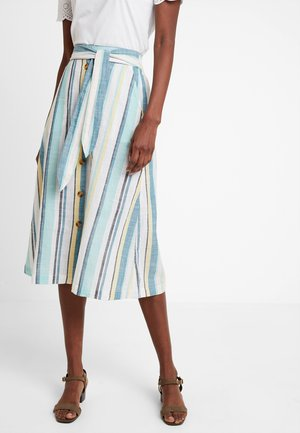 SKIRT MIDI STRIPED - A-line skirt - white
