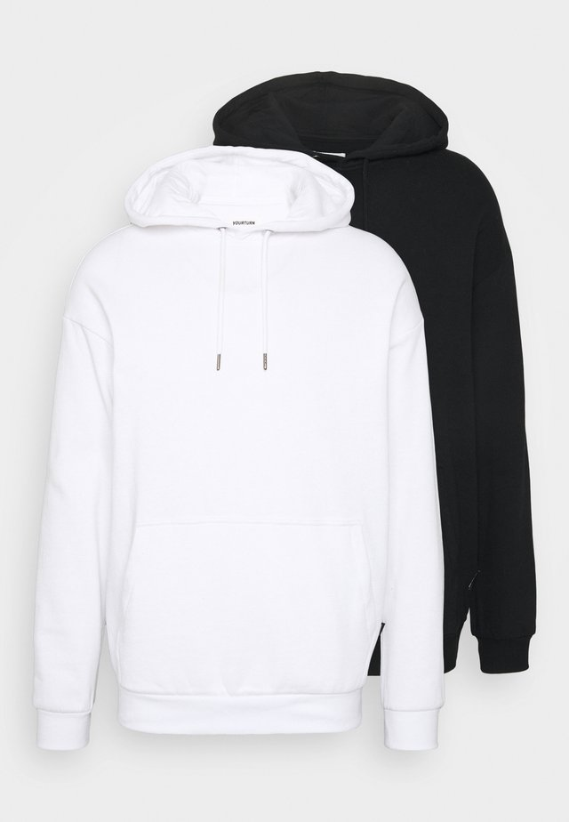 UNISEX HOODIE 2 PACK  - Jersey con capucha - white