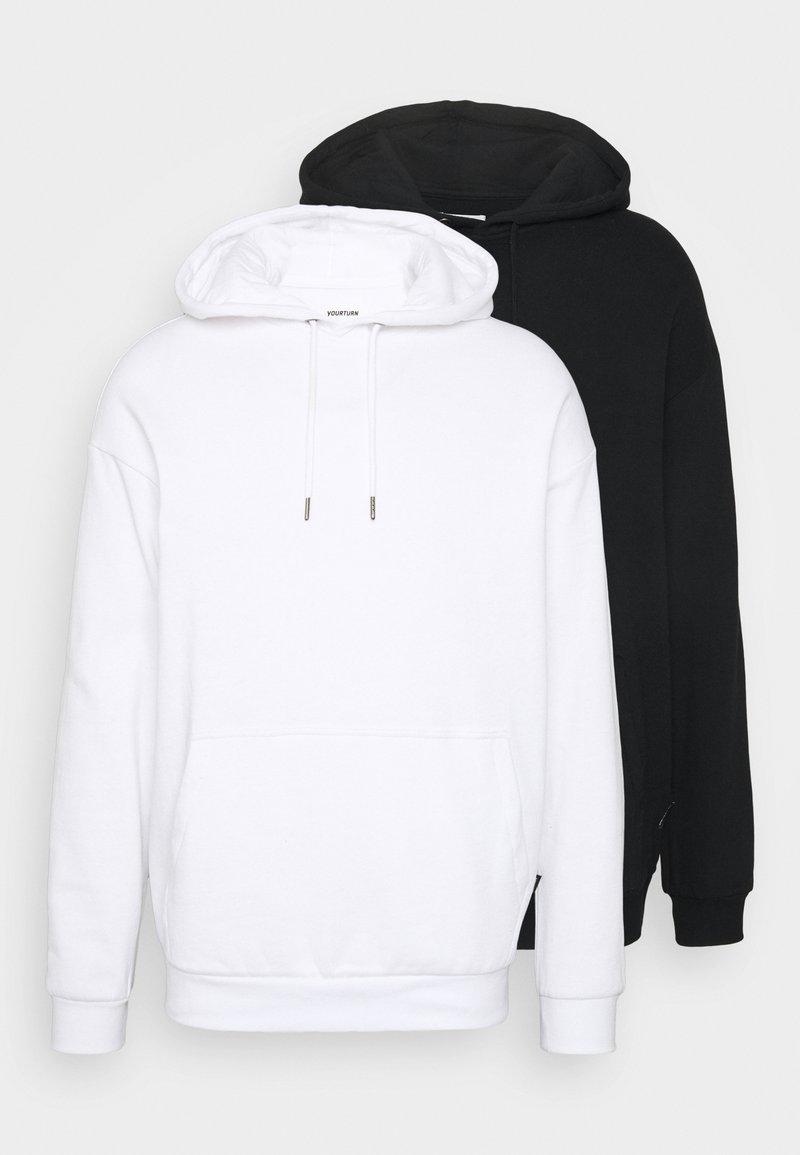 YOURTURN - 2 PACK UNISEX - Sweat à capuche - white