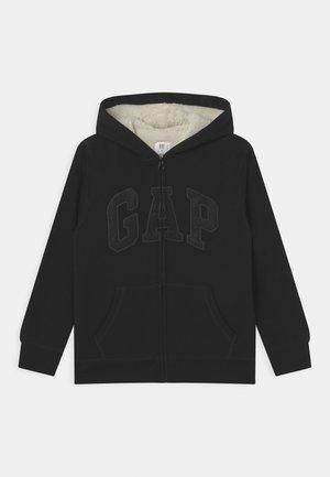BOY COZY LOGO - Sweater met rits - true black