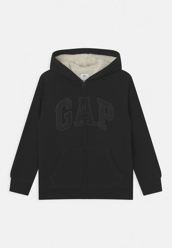 BOY COZY LOGO - Zip-up sweatshirt - true black
