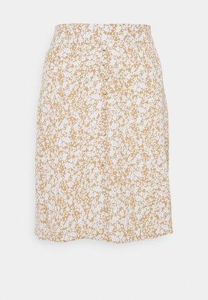 ISA PRINT SKIRT - A-line skirt - beige