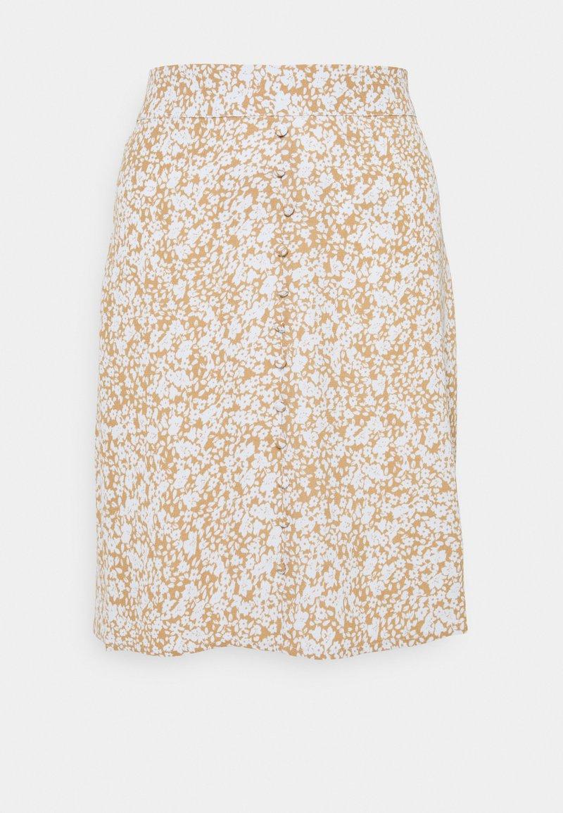 Modström - ISA PRINT SKIRT - A-line skirt - beige