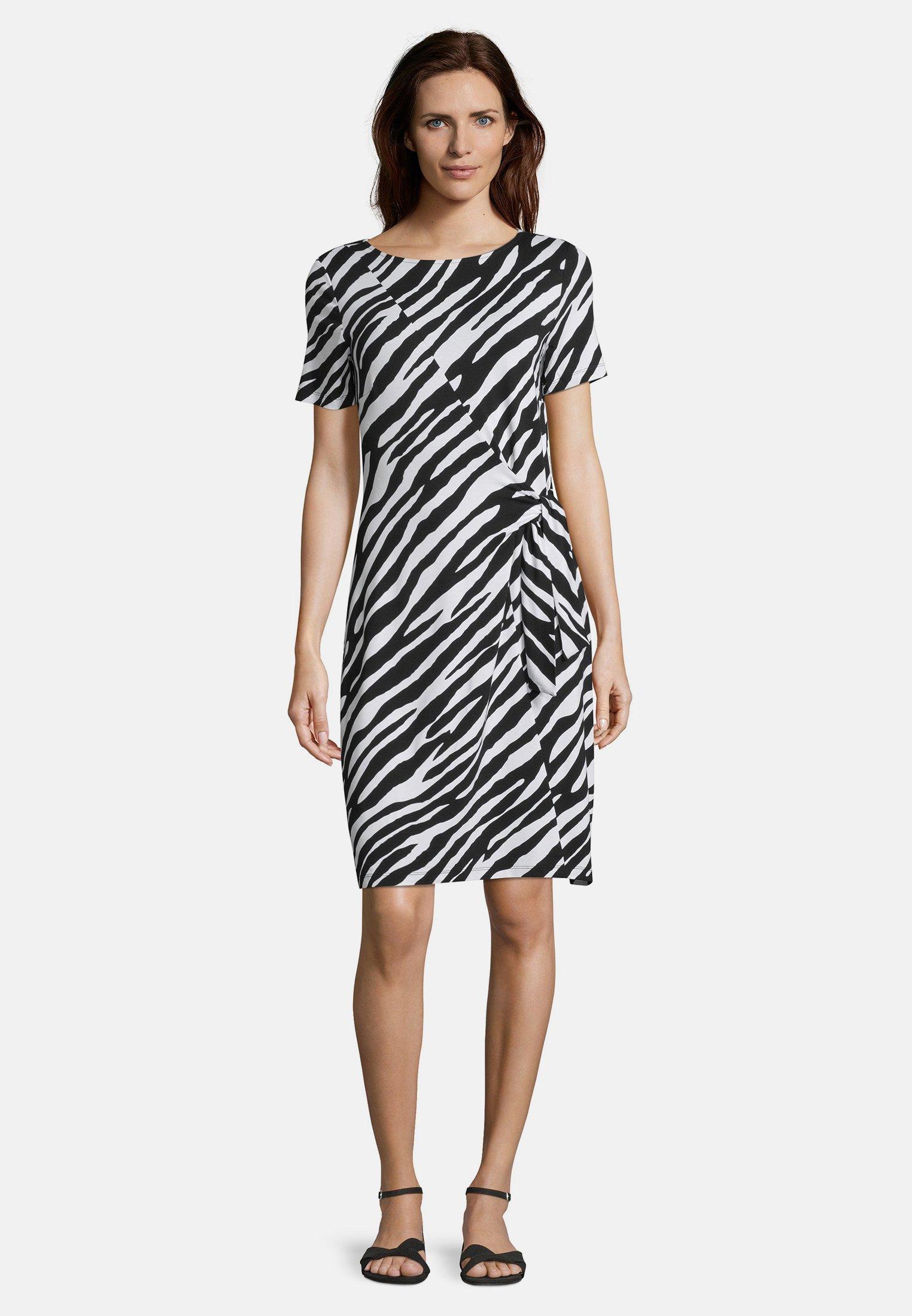 betty barclay freizeitkleid - schwarz/weiß/mehrfarbig