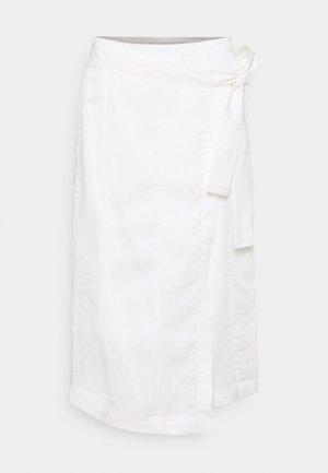 MIDI FAUX WRAP SKIRT - Wrap skirt - off-white