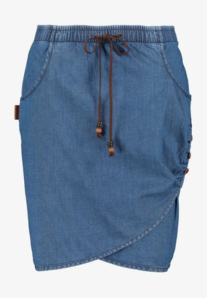 LUCYAK  - Wrap skirt - denim