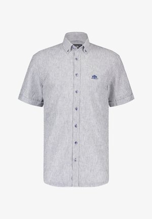 Shirt - cobalt/white