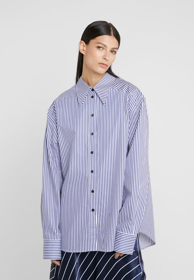 ALEX  - Button-down blouse - blue/white