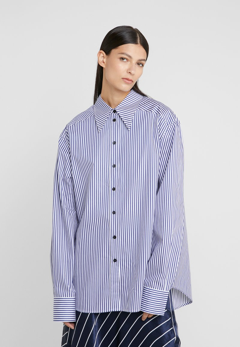 Rika - ALEX  - Button-down blouse - blue/white
