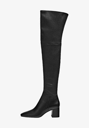 Overknee laarzen - black