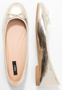 ONLY SHOES - ONLBEE - Bailarinas - gold - 3