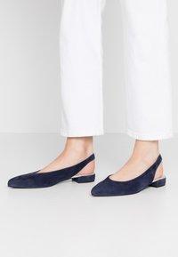 Maripé - Slingback ballet pumps - dark blue - 0