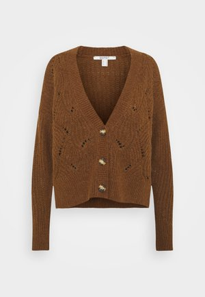 STRUCTURE OPTIC CARDIGAN - Neuletakki - brown