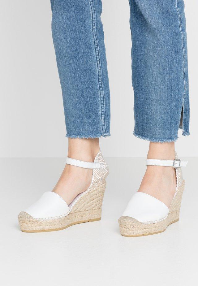 NATI - Sandały na obcasie - blanco