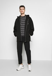 McQ Alexander McQueen - BIG DRAW ZIP HOOD - Mikina na zip - darkest black - 1