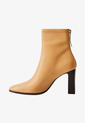 PUNTO - High heeled ankle boots - marrón medio