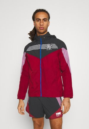 WINDRUNNER BLUE RIBBON SPORTS - Løbejakker - black/team red/violet dust/reflective silver
