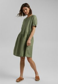 Esprit - DRESS - Day dress - light khaki - 1