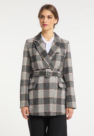 Short coat - weiss kariert