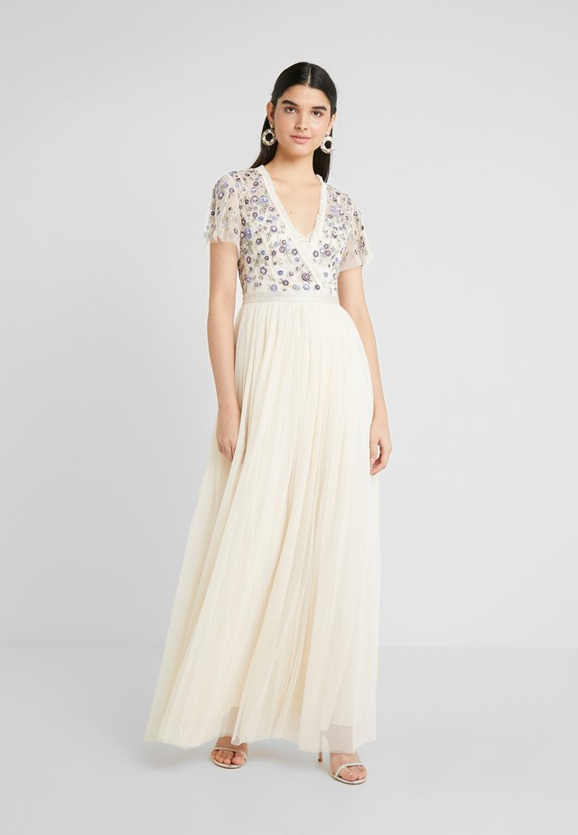 PRARIE FLORA BODICE MAXI DRESS - Occasion wear - champagne