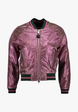L-NOTE JACKET - Kožená bunda - pink