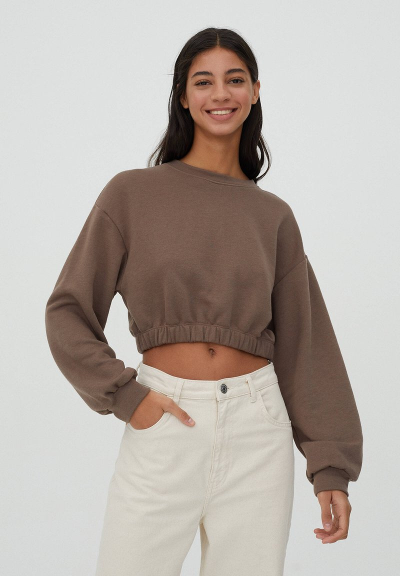 PULL&BEAR - Sweater - brown