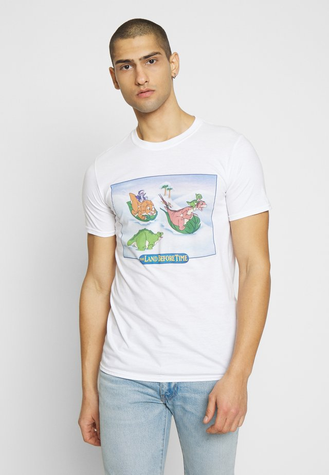 LAND BEFORE TIME SNOW FUN TEE - T-shirt con stampa - white