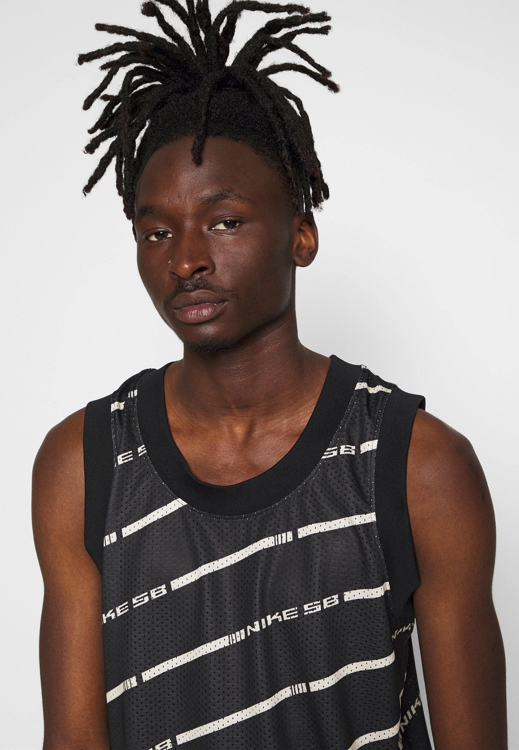 Nike SB M NK SB ON DECK TANK - Débardeur - black/white/fossil/noir ...