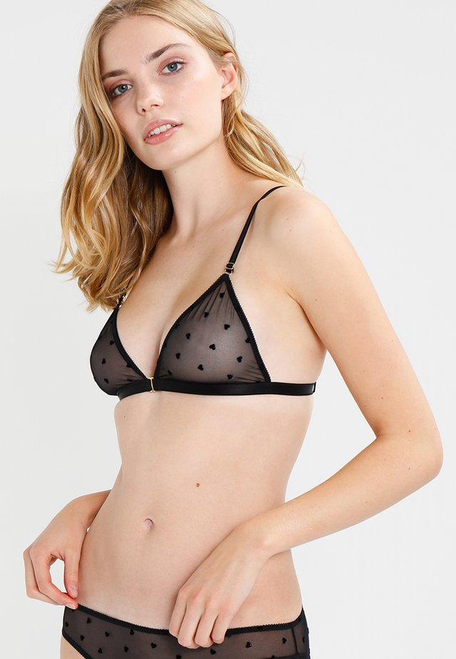 JUDITH - Triangle bra - black
