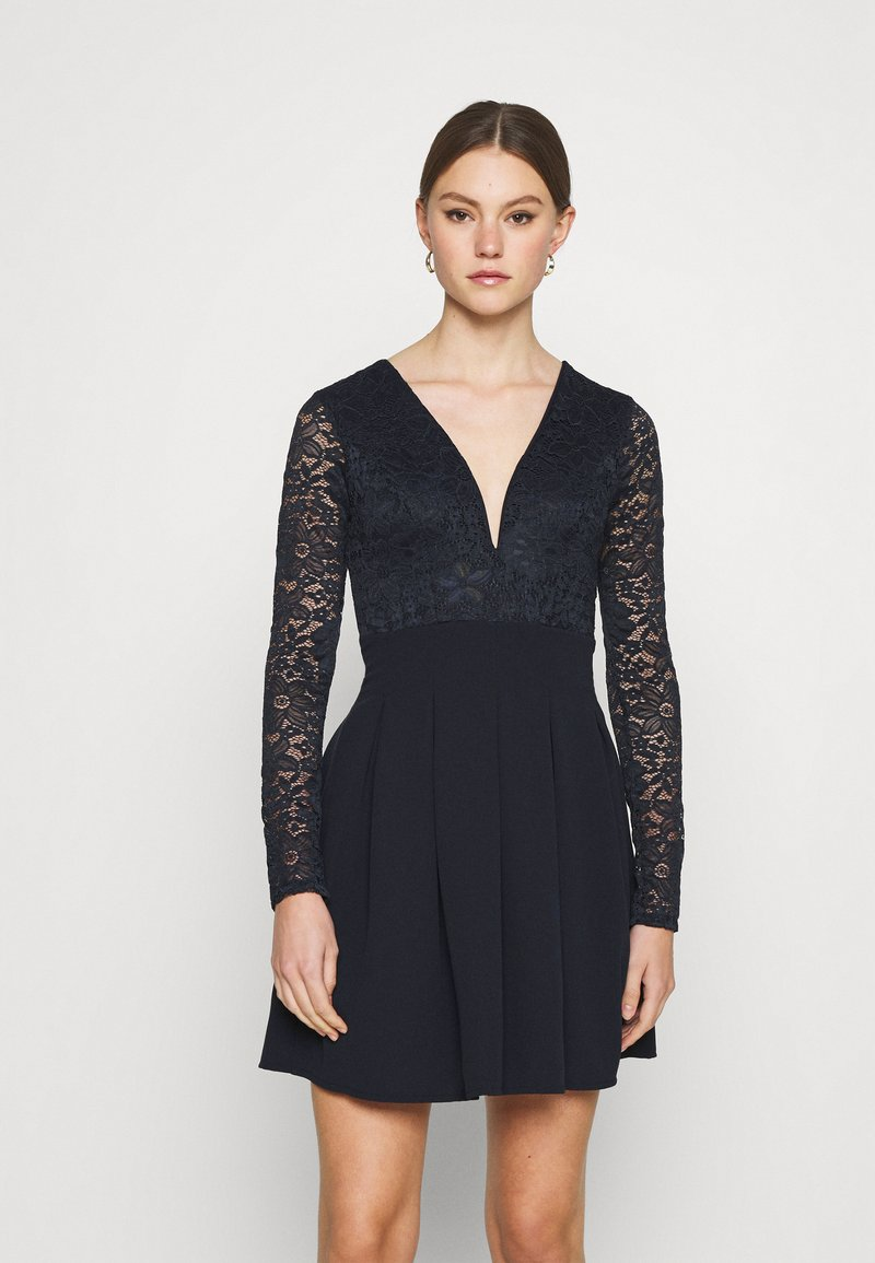 WAL G. - VIVTORIA PLUNGE SKATER DRESS - Cocktail dress / Party dress - navy blue