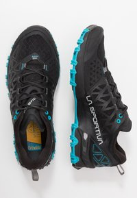 La Sportiva - BUSHIDO II - Trail running shoes - black/tropic blue - 1