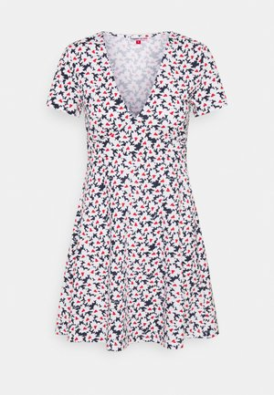 FIT FLARE PRINTED DRESS - Jersey dress - navy