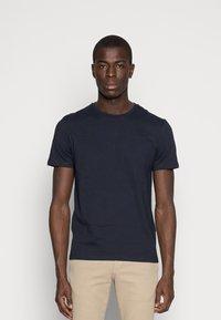 Pier One - 5 PACK - T-shirts basic - dark blue/grey/khaki - 1